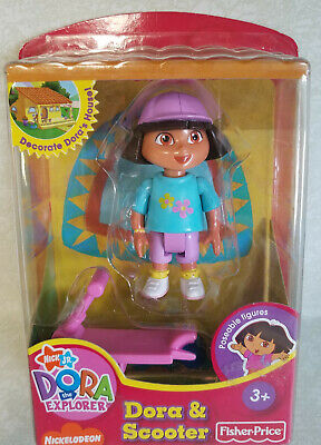 Fisher Price Dora The Explorer Doll House DORA & SCOOTER Poseable Figures NEW