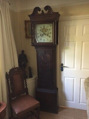 Oak eight day longcase clock by James Holt Rochdale