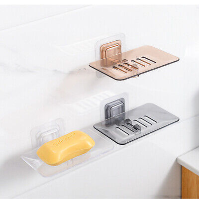 Single Layer Suction Wall Mount Rack Soap Dishes Hanging Shelf Soap Holder