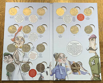 50p Coin Hunt Album complete with All coins including Kew Gardens And Medallion