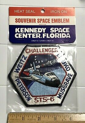NIP STS-6 Space Shuttle Challenger NASA Mission Embroidered Iron-on Badge Patch