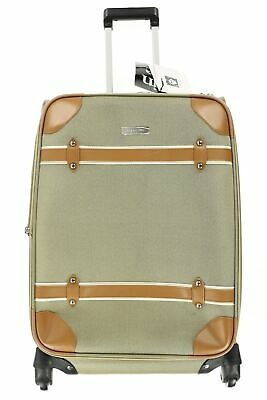 """Anne Klein Vintage Edition Women's Gold 24"""" Expandable Spinner Suitcase 134694"""