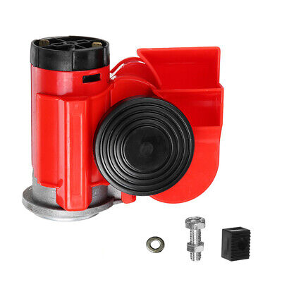 Air Jet Horn Red 12V 150dB Twin Tone Loud for Car Auto Truck SUV RV Boat E7F9
