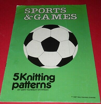 SPORTS & GAMES * 5 Knitting Patterns * Football * Noughts & Crosses * Snooker *
