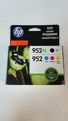 Hp 952Xl 952 Combo Pack (1 Hp High Yield Black And 3 Hp Standard Color Ink