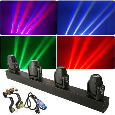 150W RGBW 4in1 4 Head LED Stage Effect Moving Head Lighting DMX DJ Color Mixing