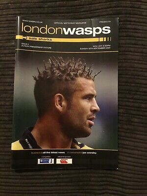 London Wasps V Sale Sharks 16 Sep 01 Premiership Rugby Union Programme Q1
