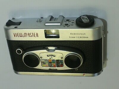 VINTAGE SAWYER'S VIEWMASTER STEREO COLOR CAMERA RARE W/ CASE 1960's STEREOCAMERA