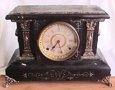 Antique Seth Thomas Adamantine Mantle Clock Pat Sep 889 Decor Repair Restoration