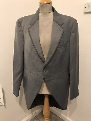 Grey Evening Morning Coat Tailcoat Size L Chest 44 Goth Rocky Horror