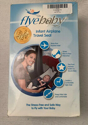 FLYEBABY Infant Airplane Travel Seat NEW Portable High Chair Hammock Safety Baby