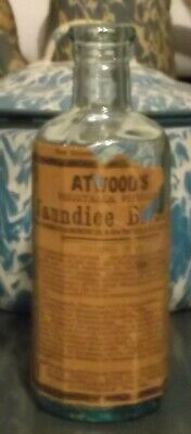 Early Antique Atwood's Jaundice Bitters Georgetown,Massachusetts Bottle Labeled