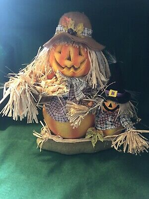 Large Fiber Optic Scarecrow Pair~Electric