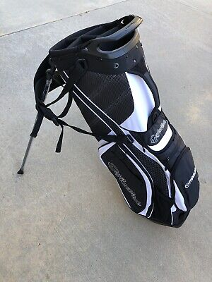 TaylorMade Purelite Golf Bag Black White Stand Bag TM16-B1178701 New