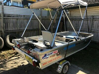 3.75M Quintrex Explorer and Trailer 2009 model like new selling cheap.