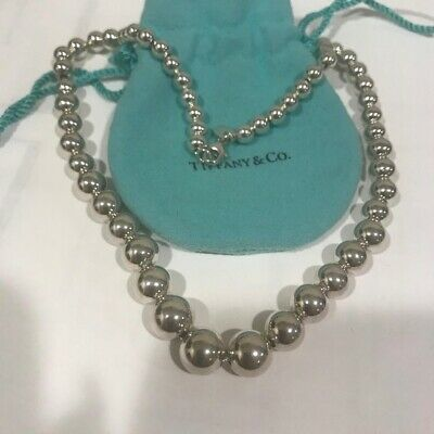 """Tiffany & Co. Sterling Silver Bead Ball Necklace 16"""""""
