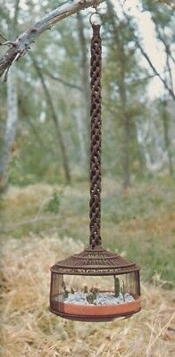 Make This Vintage Macrame Cactus Plant Holder - Pattern Only - In Pdf Format.