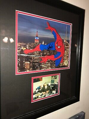 Spiderman Marvel Signed Cell By Stan Lee Coa Brand New Framed! Picture Of Stan !