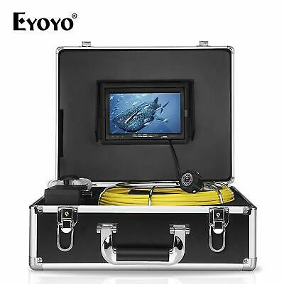 """Eyoyo Pipe Pipeline Inspection Camera 30M 7"""" Drain Sewer Industrial Endoscope US"""