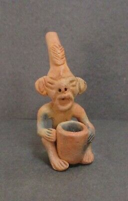 Pre-Columbian Pottery Effigy Pipe