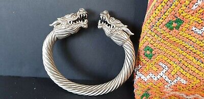 Old Tibetan Silver Dragon Bracelet …beautiful accent & collection piece