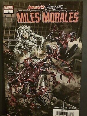 Absolute Carnage Miles Morales #3     Spider Man   Silver Sable    Venom    Nm