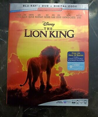 The Lion King 2019 (AUTHENTIC!!!) Blue Ray + DVD + Digital Code