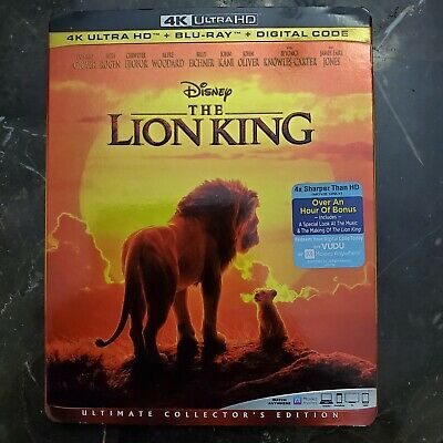 The Lion King 2019 (AUTHENTIC!) 4K Ultra HD + Blue Ray + Digital Code.