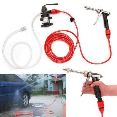 12V Portable Car High Pressure Washer Water Pump Kit Jet Wash Cleaner Hose Van