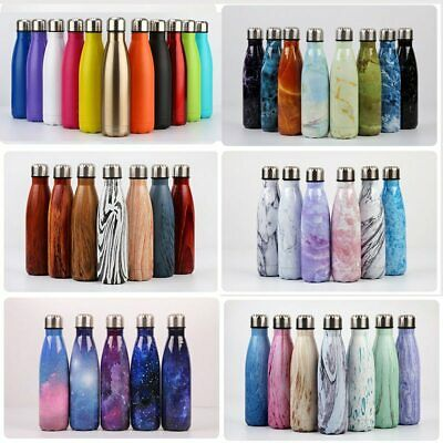 Insulated Water Bottle Thermal Double Wall Drink Vacuum 350ml-1000ml Hot Cold AU