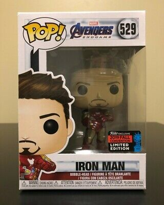 Funko POP! Marvel #529 Iron Man Avengers Endgame Gauntlet Shared Exclusive NYCC
