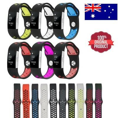 For Fitbit Charge 2 Bands Replacement Wristband Watch Strap Silicone Band S/L