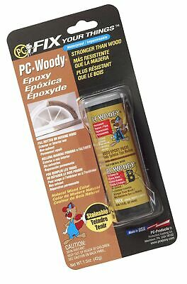 PC Products 23334 PC-Woody Two-Part Wood Repair Epoxy Paste, 1.5 oz in Two Ja...