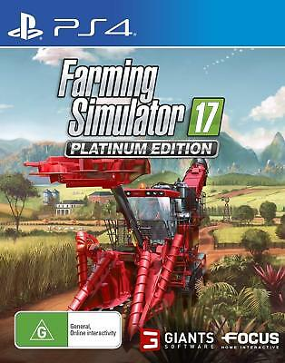 Farming Simulator 17 Platinum Edition PlayStation 4 PS4 GAME BRAND NEW FREE POST