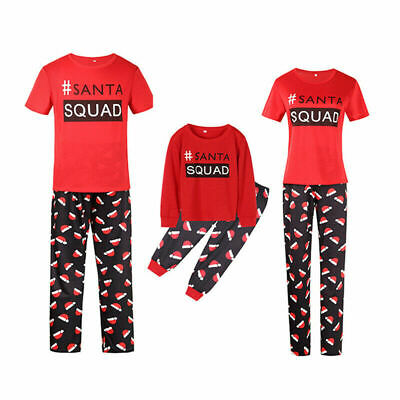 UK Christmas Family Matching Pyjamas PJS Set Xmas Santa Sleepwear Nightwear Gift