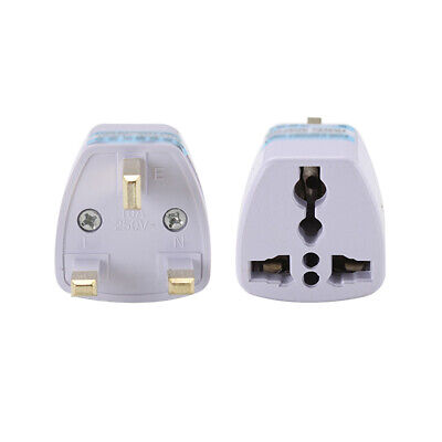 Universal US EU AU Converter to 3 Pin UK AC Travel Power Plug Charger Adapter