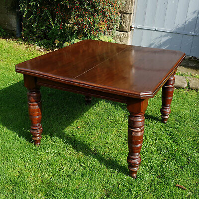 Victorian Oak Extending Dining Table Late C19th (Antique)