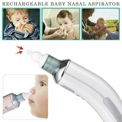 Baby Nasal Aspirator Electric Safe Hygienic Nose Cleaner Snot Sucker Suction