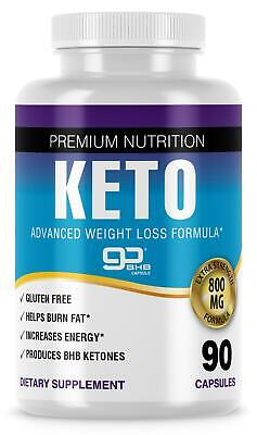 Pure Keto Diet Bhb Advanced Weight Loss Pills - 90 Capsules Extra Strength