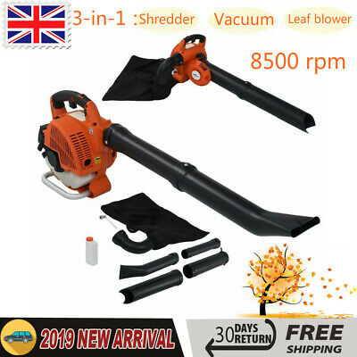26cc 3-in-1 Petrol Leaf Blower, Vacuum, Mulcher & Shredder Anti-vibration Garden