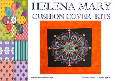 "Patchwork Kit Complete Cushion Cover Kit - Rainbow Fireworks Orange - 14.25""Sq"