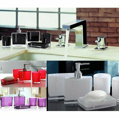 Bathroom Accessories Set 5 Pcs-Bath Cup / Toothbrush Holder / Soap Dish / Bottle