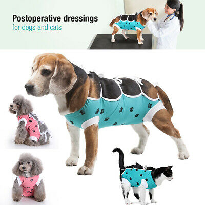 Postoperative Surgical Suit Soft Clothes Shirt Coat Vest  For Pet Cat Dog XS-L