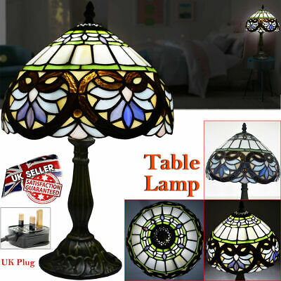 Antique Style Hand Crafted New TIFFANY Table Lamp Multi Colour Bed Living Room