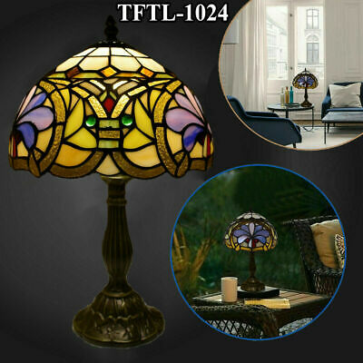 Antique Style Hand Crafted New TIFFANY Table Bed/Living Room Lamp Multi Colour