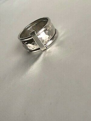 Genuine Ladies Sterling Silver ICHU 3 Band Combination Ring