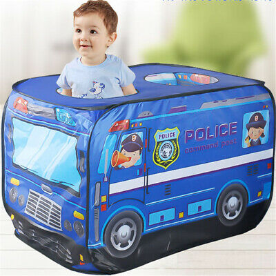 Kids Play Tent pop-up Police Car Playhouse Indoor Outdoor Children Toy Christmas
