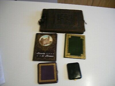 Vintage Leather Backed Photo Albums & Holders (2438)