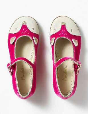 Mini Boden Girls Fox Pink Party Mary Janes Shoes Size Uk 3 (36)