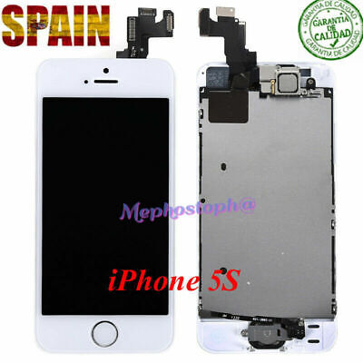 Pantalla iPhone 5S LCD Display Completa Retina Tactil Digitalizador Blanco+BOTÓN